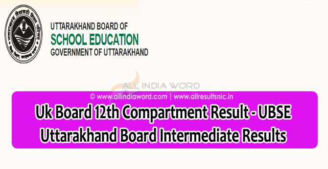 Uk Board 12th Compartment Result - UBSE Uttarakhand